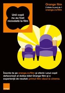 Orange România aduce marele ecran mai aproape de copiii din medii sociale defavorizate